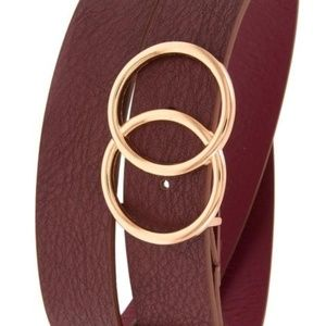 3 Colors!! Double ring wide faux leather belt